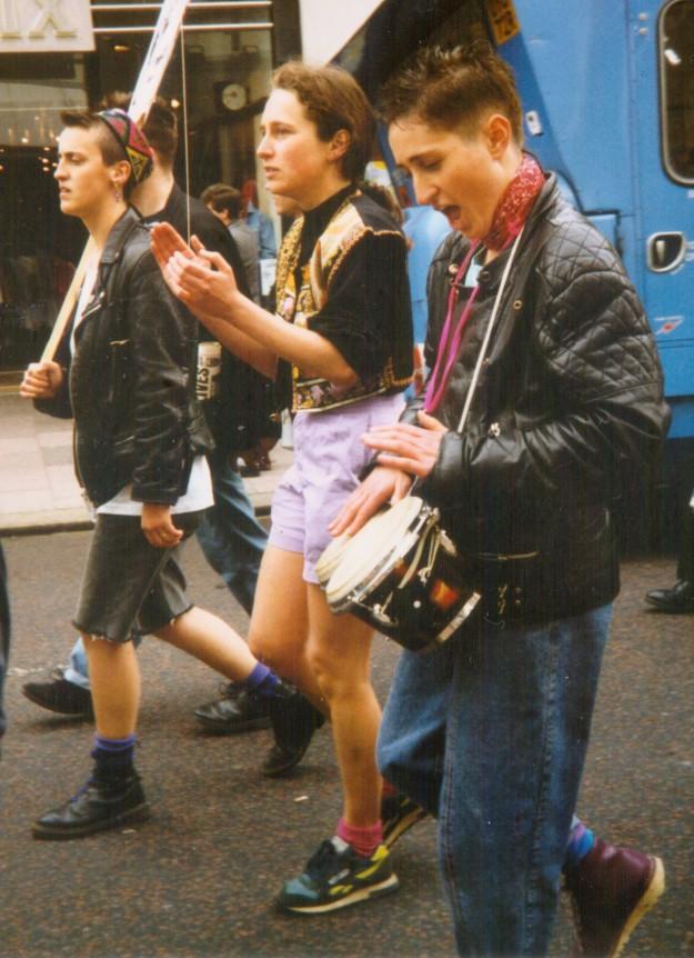 Brighton Pride 1991 March Western Road Kate Wildblood Liv Laura Stella