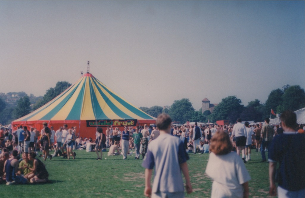 Wild Fruit Tent 1997 Photo by Kate Wildblood